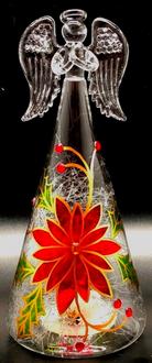 Poinsettia Angel 15cm