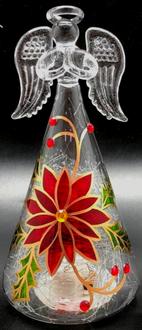 Poinsettia Angel 18cm