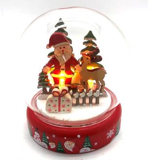Dome Lightup Santa