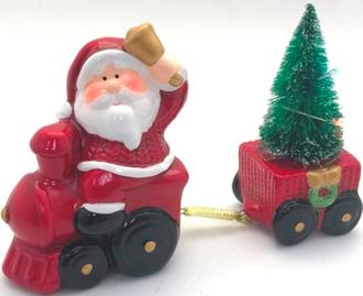 Santa and Train LED 15cm