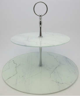 White Marble Cake Stand 27x26cm