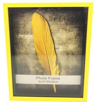 Shadow Box Frame Yellow 8x10