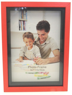 Shadow Box Frame Red 5x7