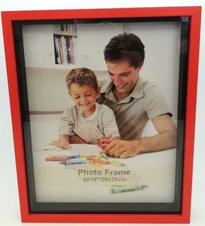 Shadow Box Frame Red 8x10