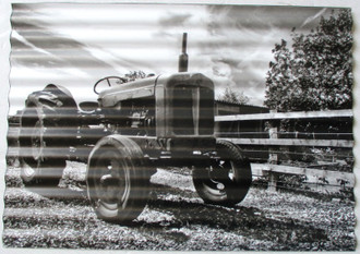 Sign Tractor 30x40cm