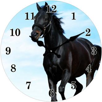 Clock Black Horse 30cm