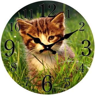 Ginger Kitten Clock 17cm
