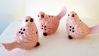 Adrienne Birds Pink 10cm 3 asst