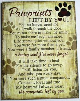 PL Pawprints 25x33cm