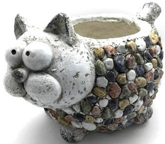 Magenta Cat Planter 28cm