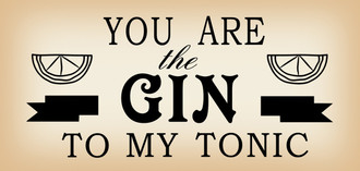 Sign Gin/Tonic 29x12cm