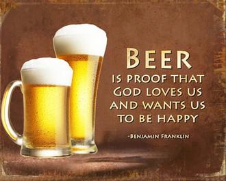 PL Beer Gods Love 25x20cm