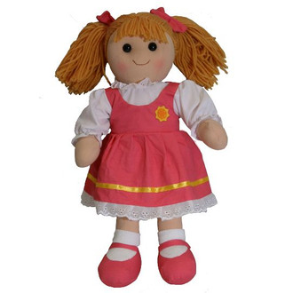 Hopscotch Doll Hazel - Pink shoes and dress with white lace.
