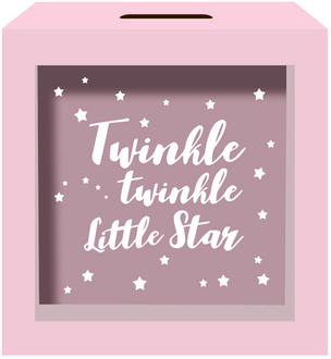 Money Box Twinkle Pink 15x15cm