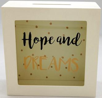 Money Box Hopes & Dreams 15x15cm
