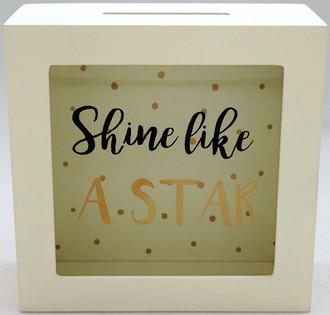 Money Box Shine like a star 15x15cm