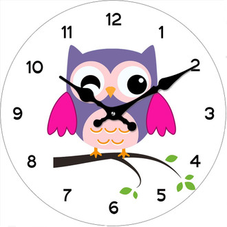 Cute Owls Clock 17cm