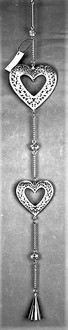 Hanging Double Heart Silver