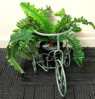 Bike planter green 42x31cm
