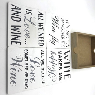 Coasters wine set 4