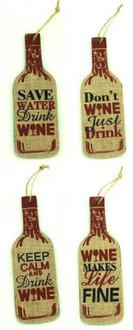 Wine bottles 4 ass 7x20cm
