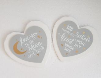 Heart Love Hanger 2 asst 16 cm