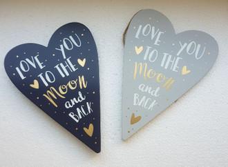 Hearts love 2 asst 20 x 14 cm