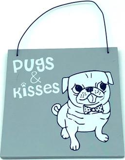 Sign pugs 'n' kisses 12 cm