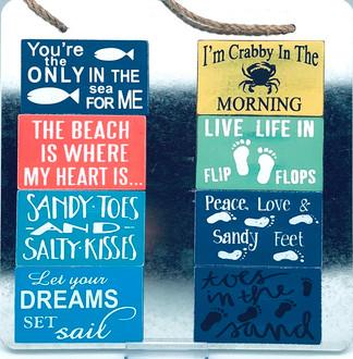 Beach magnets 8 asst