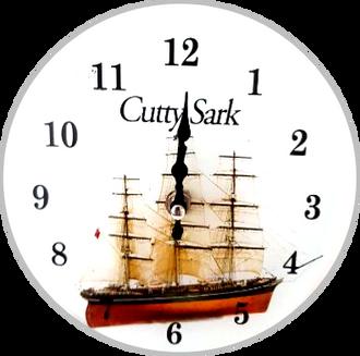 Clock Cutty Sark 17cm