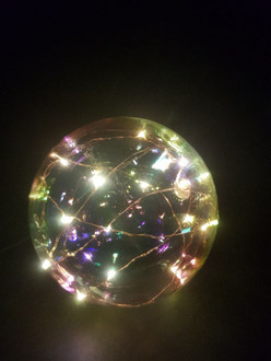 Ball rainbow 12cm L/up
