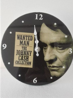 Clock Johnny Cash 17cm