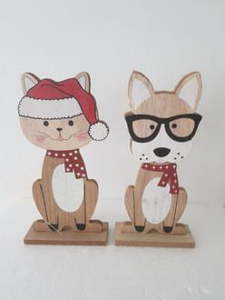 Dog & Cat 22cm 2ast