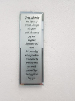 Friendship Plaque 6x18cm