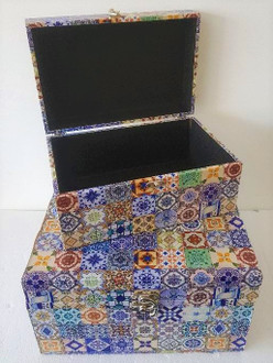 Set of 2 Storage Boxes Moroccan 14 x 26cm