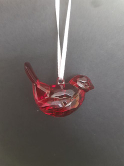 Acrylic Bird hanging Red