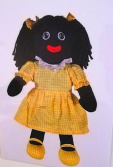 Yellow girl Gollie 35cm