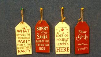Christmas signs 4ast 8x17cm