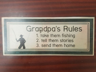 Sign Grandpas Rules 31x13cm