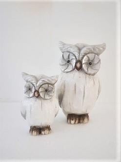 Owl grey 17cm