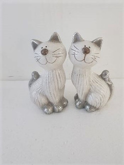 Cat grey 16cm 2ast