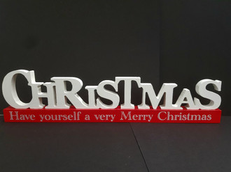Sign Christmas 42x11cm