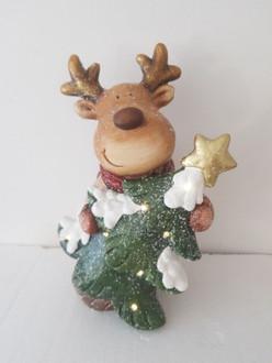 Reindeer with tree 38cm