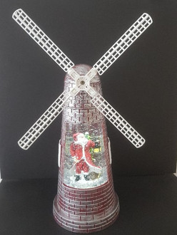 Windmill santa with LED 27cm