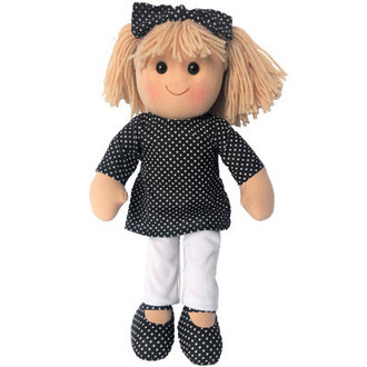 Kate - Hopscotch Doll 35cm -black spotted top with white pants