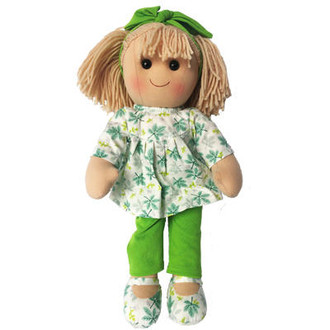 Amelia - 35cm Doll with green pants and matching headband