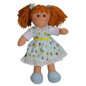 Hopscotch doll 25cm - Teal pattern dress