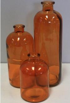 Glass Bottle Medium - Amber