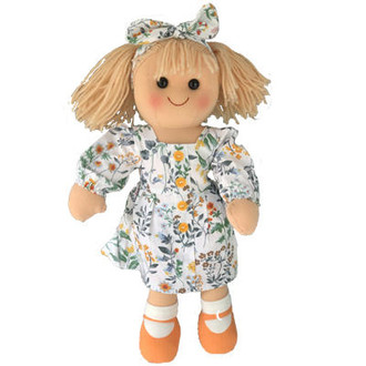 Stella - Floral patterned Laura Ashley type fabric dress - 35cm Hopscotch Doll