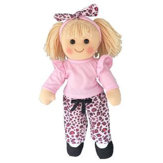 Natalie - pink leopard skin - 35cm Hopscotch Doll